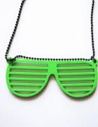 Naszyjnik z okularami SIX nerd neonowy punk rockabilly oldschoo...
