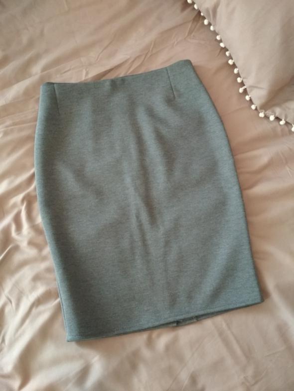 elegancka szara ołówkowa spódnica...