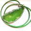 Zielony duży surowy kamień wisior z agatem