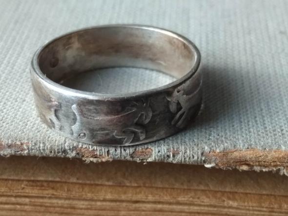 Obrączki Warmet Rytosztuka obrączka koziołki stare srebro rękodzieło