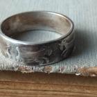 Warmet Rytosztuka obrączka koziołki stare srebro rękodzieło