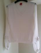 Nowy swwterek bluzeczka Tiffi z jedwabnymi przejrzystymi rękawami
