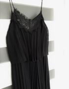 Śliczna nowa czarna plisowana sukienka Mango M 38...