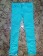 Turkusowe jeansy L XL...