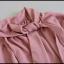 Elegancka bluzka z wiązaniem Blu Royal rozmiar 40 L