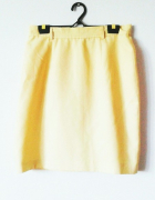 Żółta spódnica mini elegancka vintage wysoki stan...