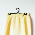 Żółta spódnica mini elegancka vintage wysoki stan