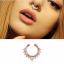 Nowy fake piercing na srodek nosa rose gold krysztalki eleganck...