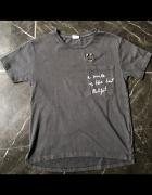 ZARA Kids t shirt czarny czerń smile is best outfit 9 lat 134 cm stan BDB