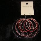 Nowe wiszace kolczyki duze kola odcienie rozu rozwego srebrne pastelowe accessories