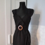 Czarna sukienka z paskiem Asos mała czarana
