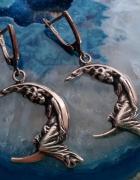 Srebrne kolczyki elfy nimfy