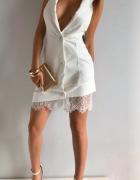 Sukienka marynarka biała ecru Xs S nowa z metkami