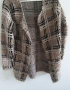Brązowy Włochaty sweter S M Sweet Miss