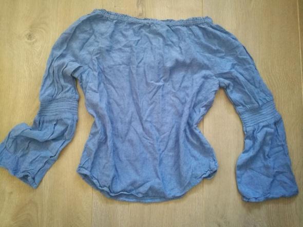 Niebieska bluzeczka hiszpanka H&M 152