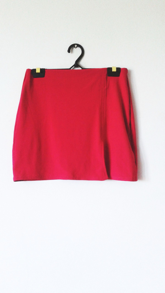 Różowa spódniczka dla dziewczynki trapezowa mini róż