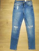 Jeansowe spodnie Boyfriendy 34 H&M...