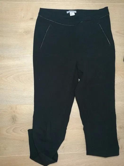 Cygaretki eleganckie czarne spodnie 34 H&M
