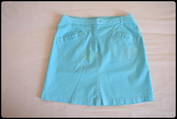 H&M błękitna mini spódnica rozmiar 42 XL