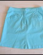 H&M błękitna mini spódnica rozmiar 42 XL...