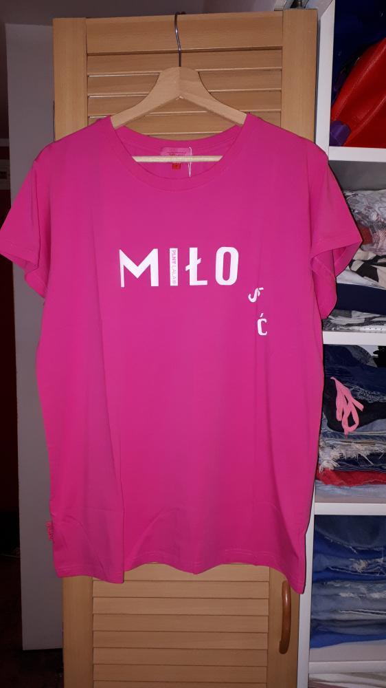 Nowa koszulka Plny Lala Miłość Pink