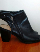 Botki czarne sandały open toe F&F 40...