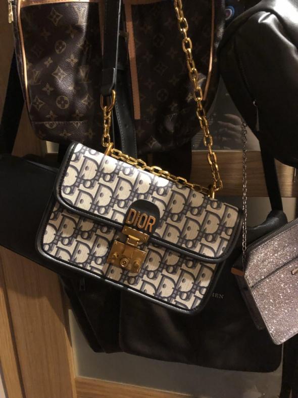 Torebka Dior Oblique z łańcuszkiem...