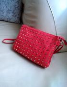 Czerwona torebka z dżetami OKAZJA...