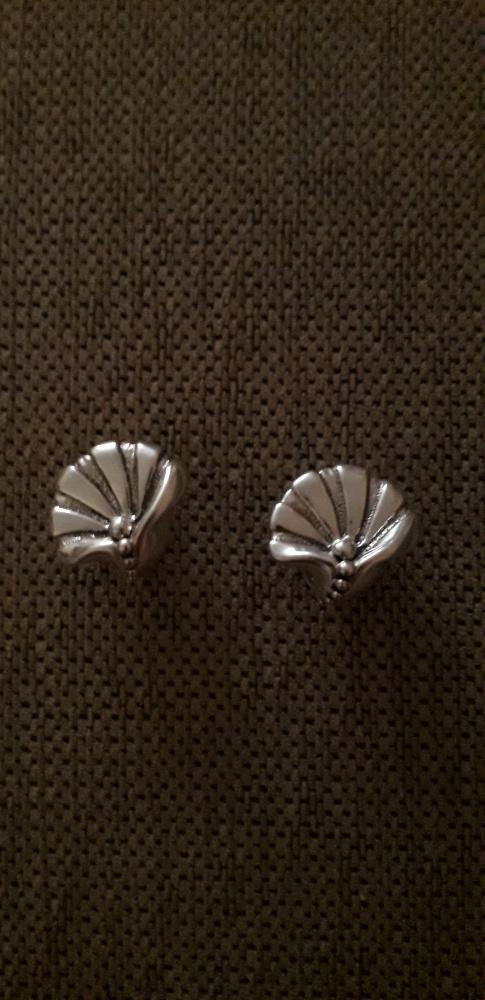 Duże srebrne kolczyki na wkrętki