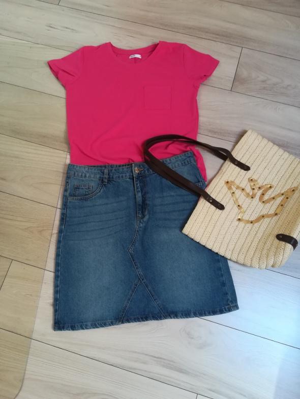 Nowa spódniczka jeansowa i firmowa koszulka
