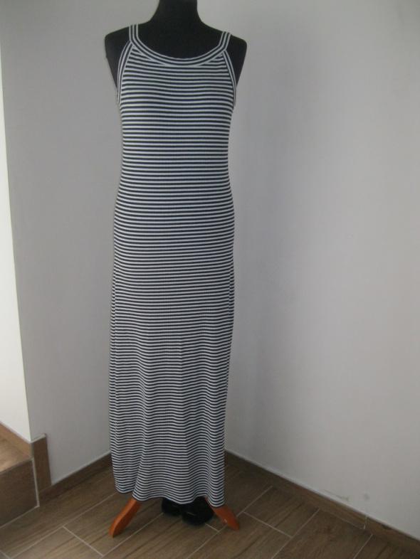 sukienka NEXT L paski long maxi długa