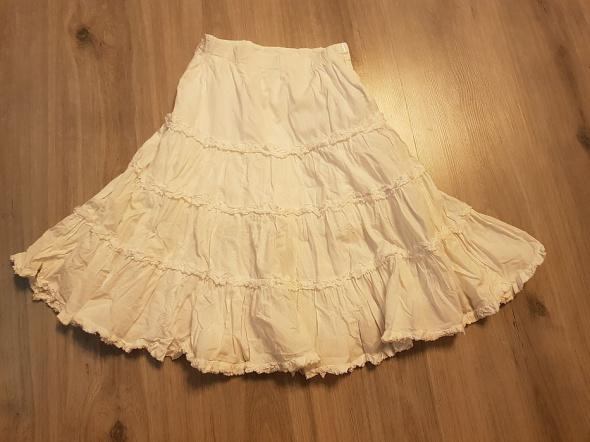 Biała długa spódnica dla dziewczynki 110 cm