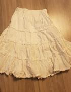 Biała długa spódnica dla dziewczynki 110 cm...