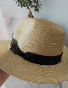 nowy kapelusz słomkowy przeciwsłoneczny beżowy