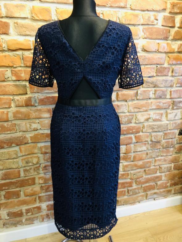 Suknie i sukienki Oliver Bonas sukienka granatowa porter elegancka wesele 38 M