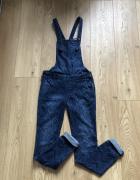 Hollister ogrodniczki xs s spodnie jeans