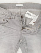 PROMOD damskie szare jeansy rurki 36...