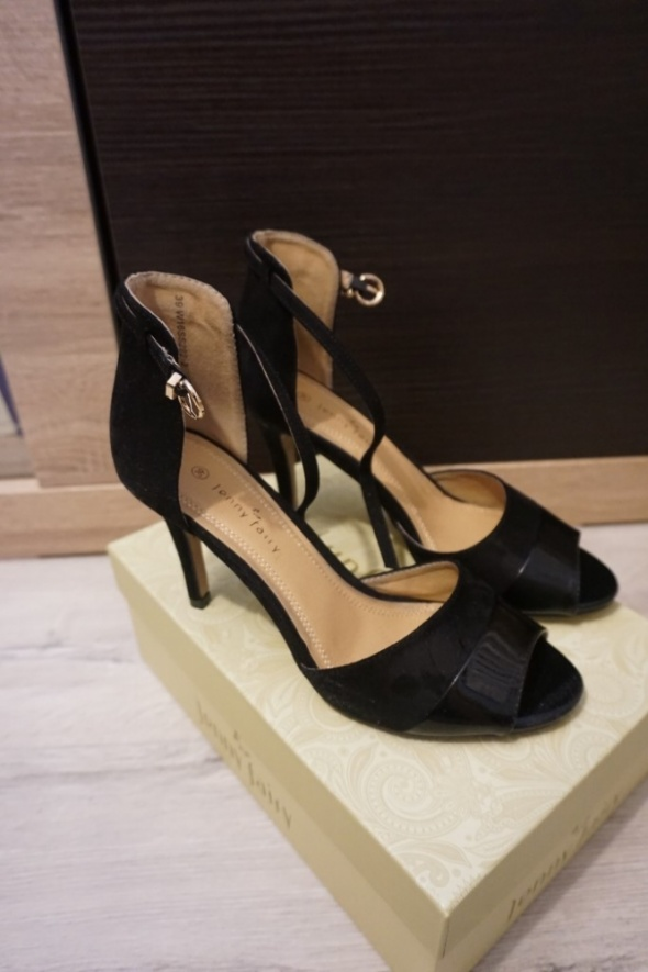 Sandały na szpilce czarne 39 CCC Jenny Fairy...