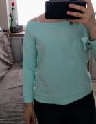 Miętowa bluza SinSay...