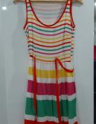 kolorowa sukienka Promod...