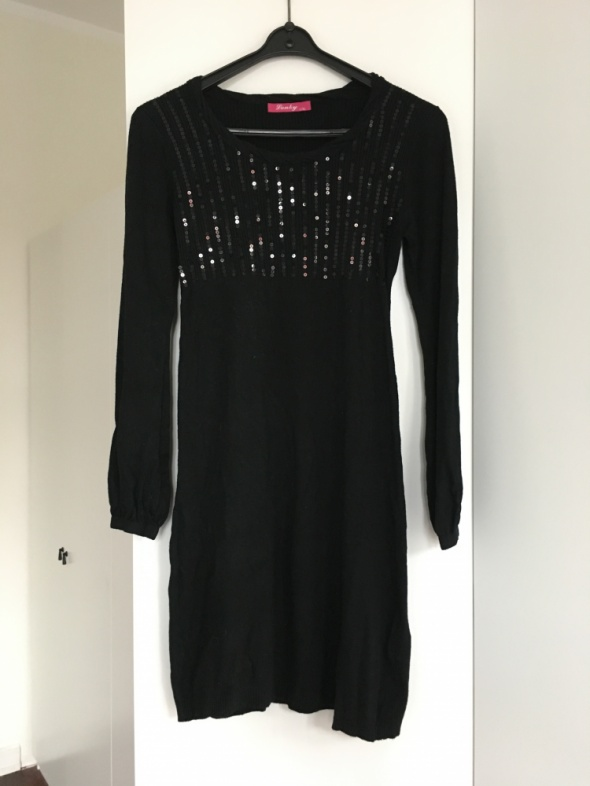 Tuniki Sukienka dzianinowa tunika czarna Lonky rozmiar L XL