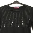 Sukienka dzianinowa tunika czarna Lonky rozmiar L XL