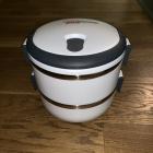 Pojemnik lunchbox 2 layers stainless steel bento obiadki słoiki