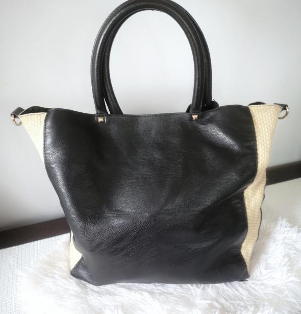 Reserved Torebka damska shopper A4 czarna