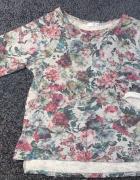 bluza bluzka sweter oldschool Promod kwiaty 36