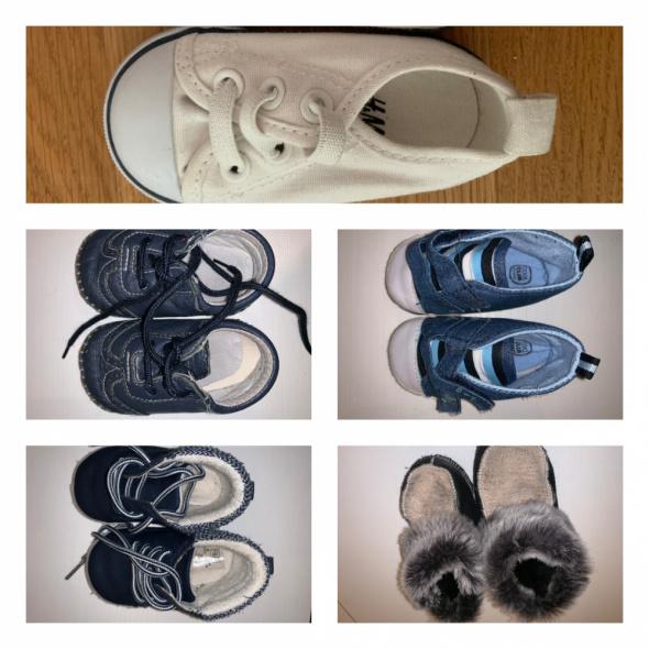 8 par Buty 19 20 jesień wiosna zima skarpety skórzane paputki H&M Cool club F&F Play shoes