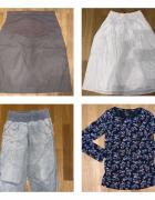 9szt zestaw ciąża spódnica rajstopy spodnie bluzka marynarka 38...