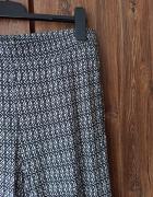 Elastyczne spodnie letnie H&M biało czarne wzorki alladynki M w...
