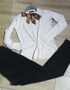 Elegancko komplet do pracy firmowe spodnie i sweterek...