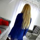 Chabrowa szyfonowa sukienka